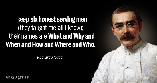Rudyard Kipling's Six Serving Men