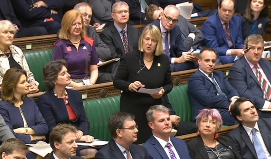 A number of UK MPs in Parliament's House of Commons